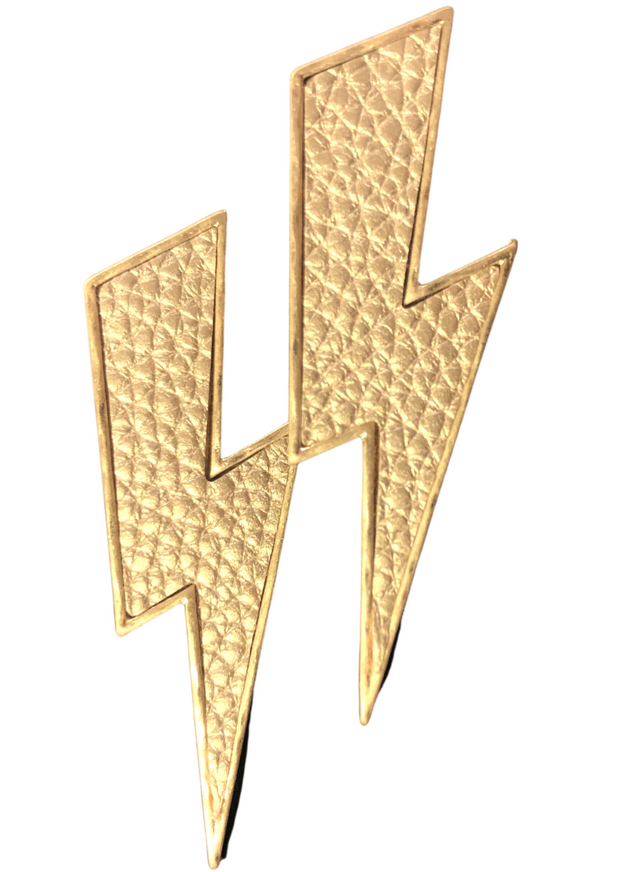 GOLD THUNDER BOLT EARRING