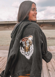 EASY TIGER BLACK DENIM JACKET