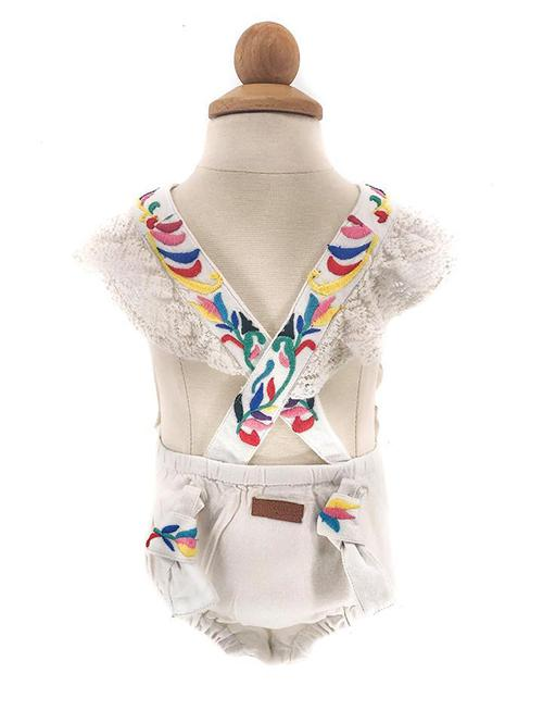 MILA MEXICAN BIRD EMBROIDERED PLAYSUIT FOR BABES