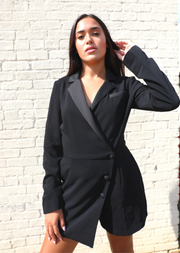 BLACK SUIT ROMPER