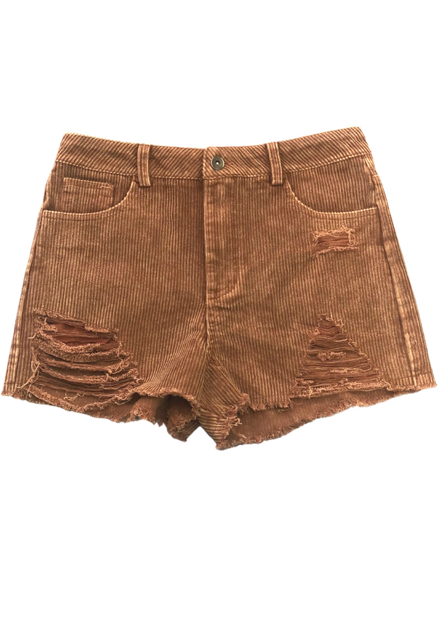 THE CORD DISTRESSED SHORTS