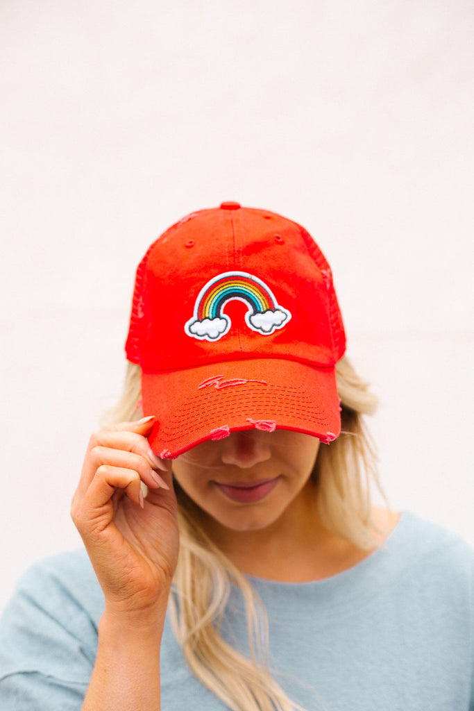 RAINBOW BRITE PATCH HAT