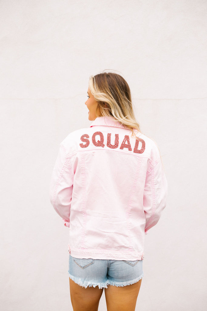 SQUAD GOALS DENIM JACKET