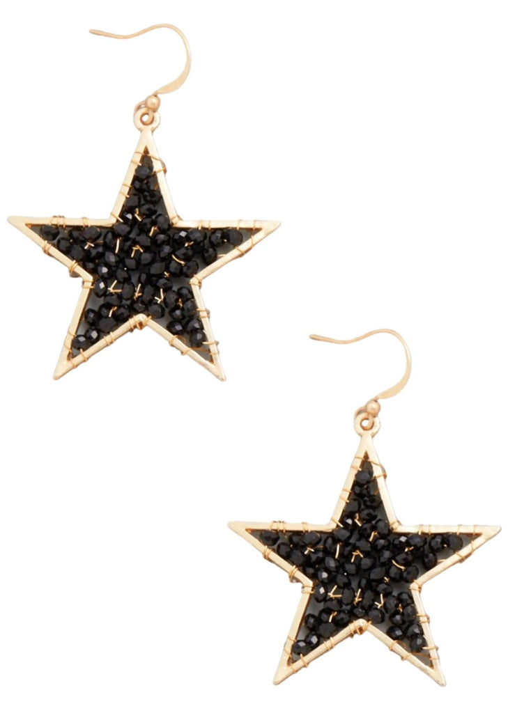 GLASS STAR EARRING