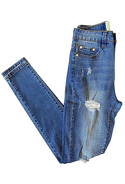 JUST JUDY DISTRESSED SKINNY JEAN