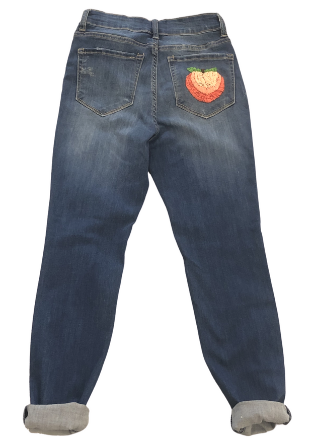 PEACHY STITCHED DENIM