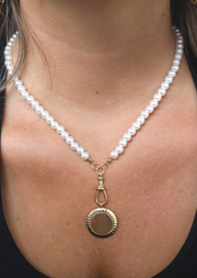 PEARL CHAIN PENDANT NECKLACE