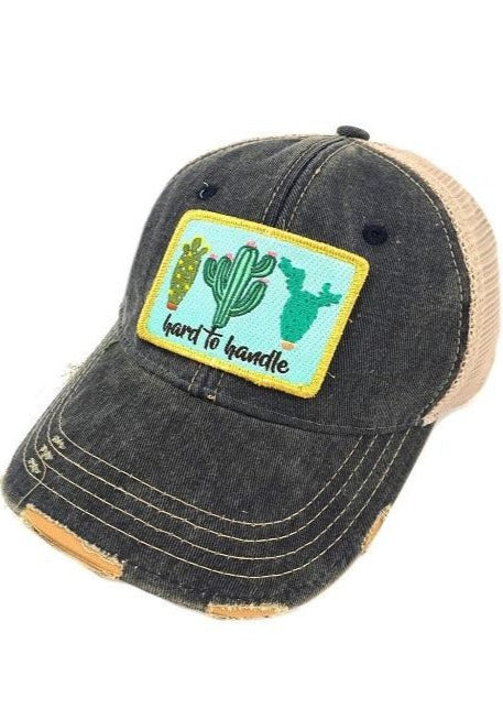Judith March Hard To Handle Cactus Navy Hat
