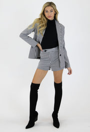 THE VINYL STRIPE BLAZER & SHORT SET