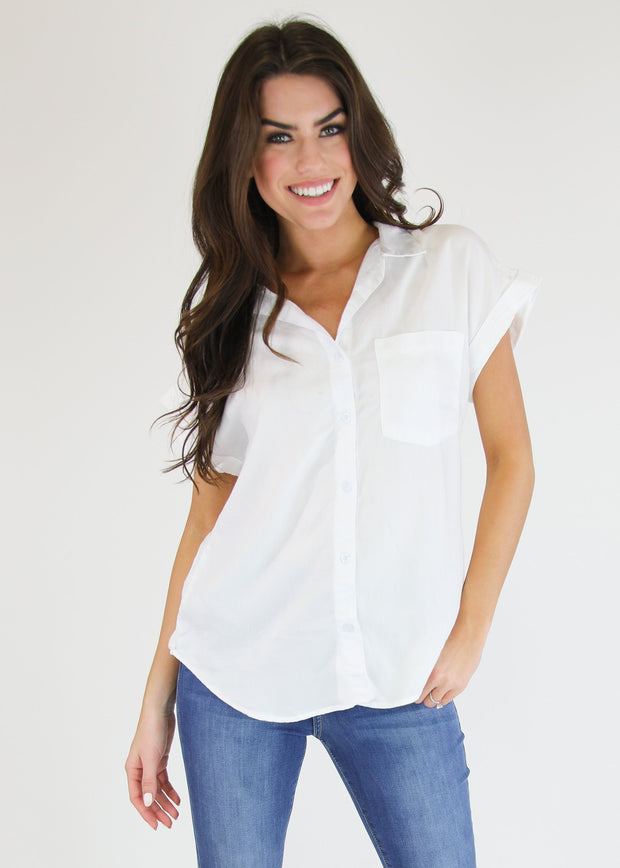 SHORT SLEEVE WHITE TOP