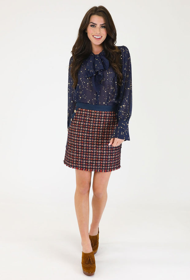 THE No.5 TWEED SKIRT