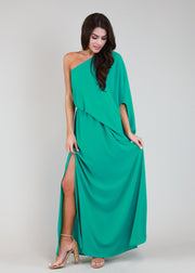 TEGGY ONE SHOULDER ISLAND MAXI