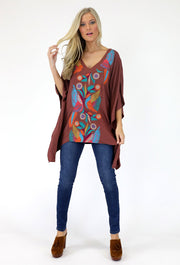METALLIC BOHO BIRD TUNIC