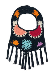 BLACK MULTI CROCHET BIB