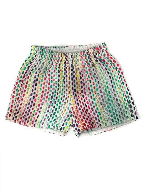ROWAN SHORTS IN FUNFETTI JACQUARD FOR LITTLE ONES
