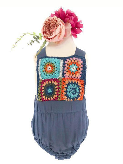 CHLOE FESTIE CROCHET PLAYSUIT FOR BABES