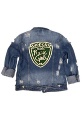 RAISE GIRLS DENIM JACKET DARK DENIM