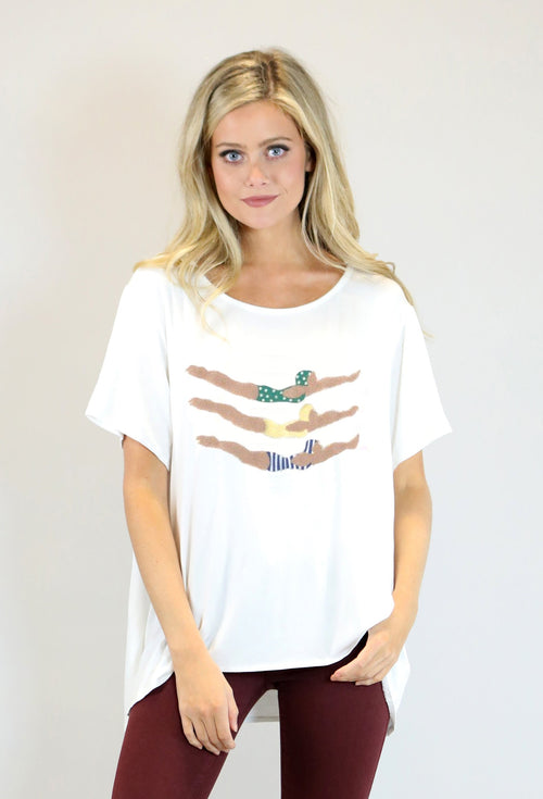 JUDITH MARCH DIVER TEE