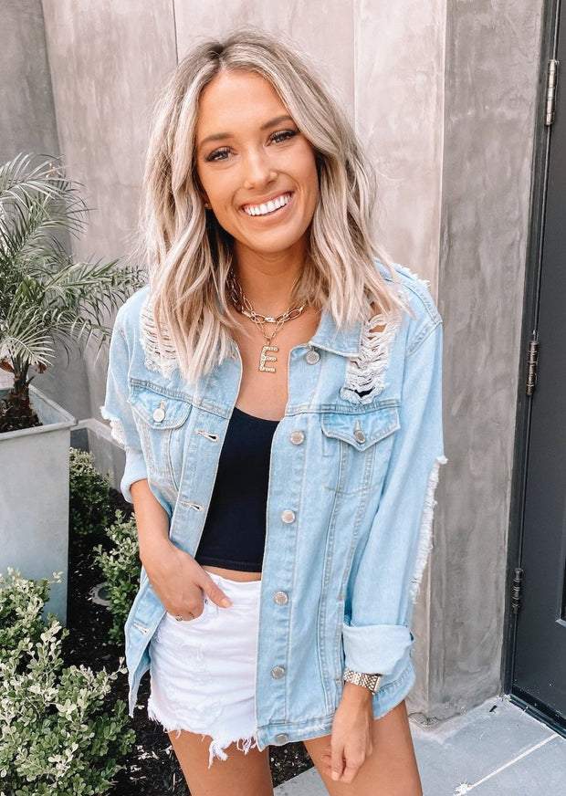 THE EVERYDAY DISTRESSED DENIM JACKET
