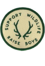 GREEN SUPPORT WILDLIFE RAISE BOYS PATCH