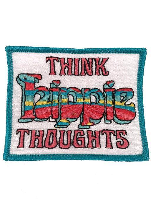 Think Hippie Thoughts Patch - Coral
