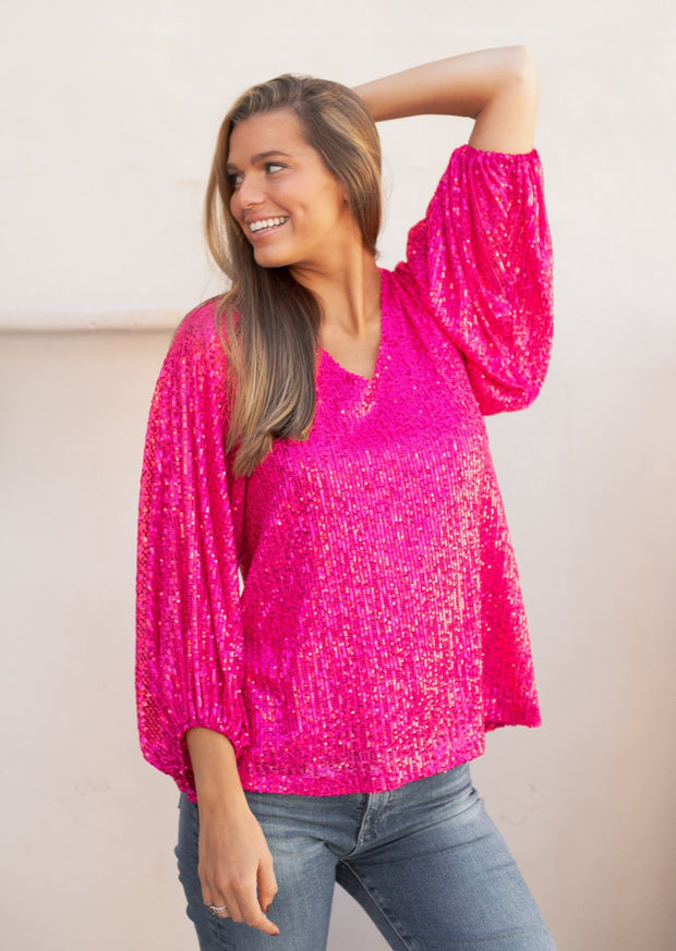 POPPY SEQUIN BLOUSE