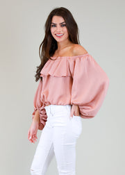 SILKY OFF THE SHOULDER TOP