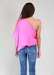 SILKY ONE SHOULDER TOP