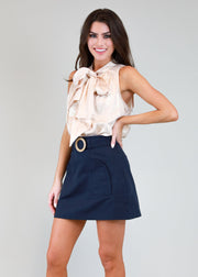 SAIL AWAY NAVY SKIRT
