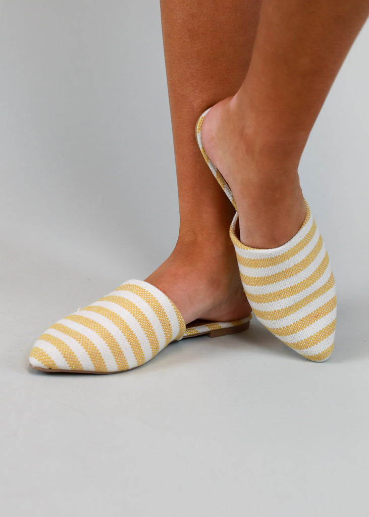 SUNSHINE STRIPE LOAFER SANDAL
