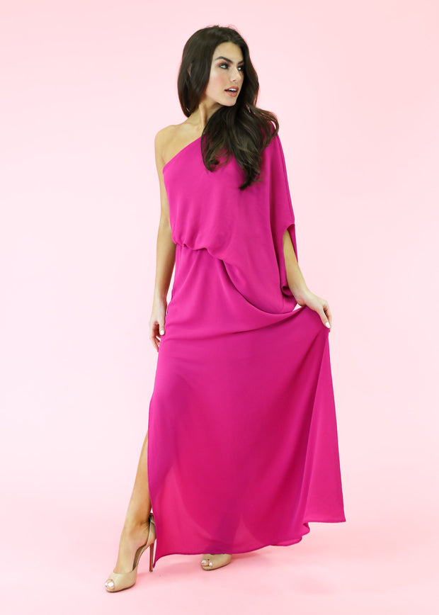TEGGY ONE SHOULDER MAXI DRESS