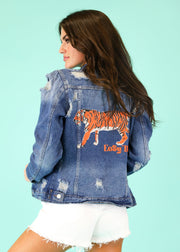 EASY TIGER PRINTED DENIM JACKET
