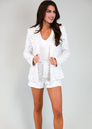 WHITE FRENCH QUARTER BLAZER