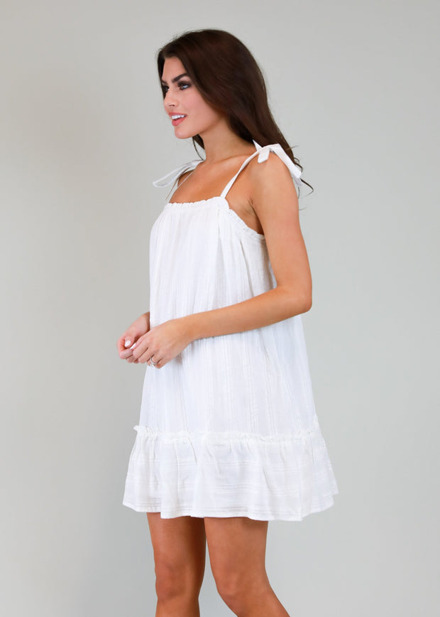 IS THIS A DAYDREAM WHITE COTTON DRESS