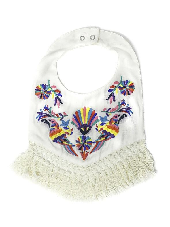 MEXICAN BIRD EMBROIDERED BIB