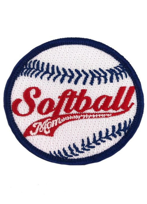 SOFTBALL MOM PATCH - RED