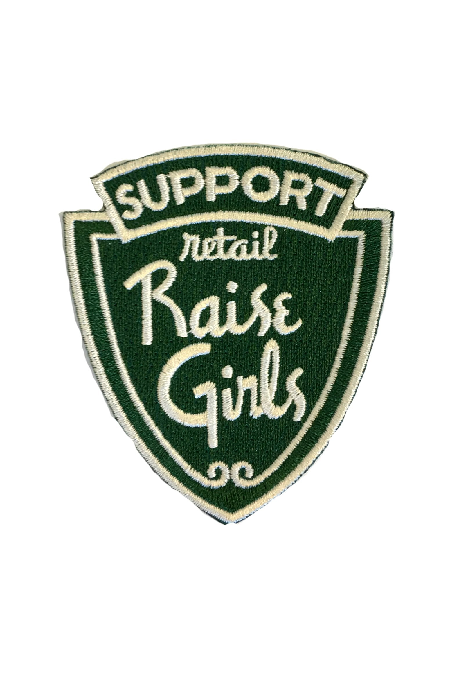 SUPPORT RETAIL RAISE GIRLS PATCH - BLUE