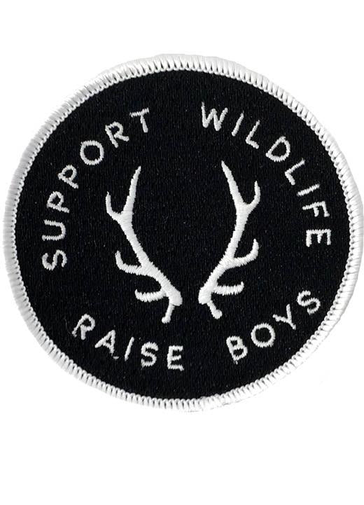 SUPPORT WILDLIFE RAISE BOYS PATCH - CAMO
