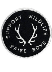 SUPPORT WILDLIFE RAISE BOYS PATCH