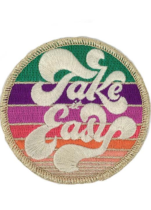 METALLIC TAKE IT EASY PATCH - GREY