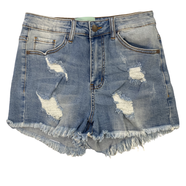 JM CUSTOM DISTRESSED DENIM SHORTS