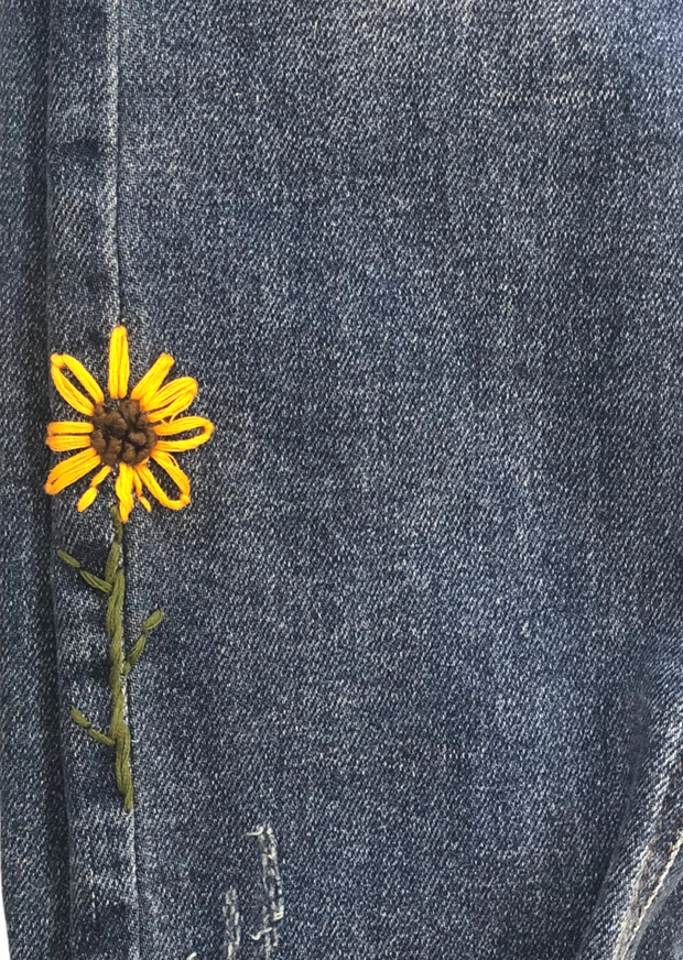 SUNFLOWER STITCHED DENIM