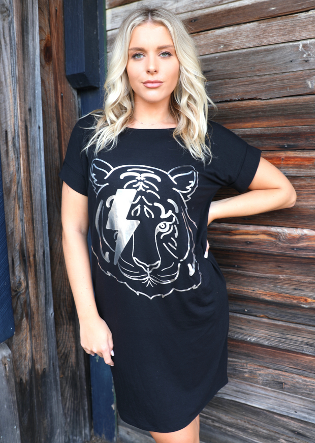THE STRIKING TIGER T-SHIRT DRESS