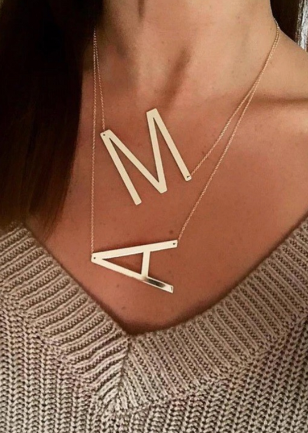 LETTER INITIAL NECKLACE