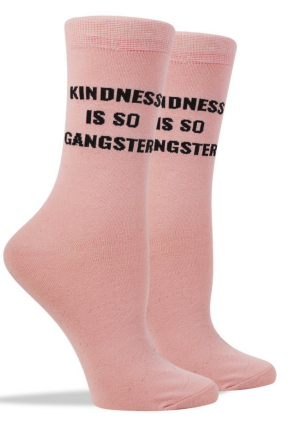 KINDNESS IS SO GANGSTER SOCKS