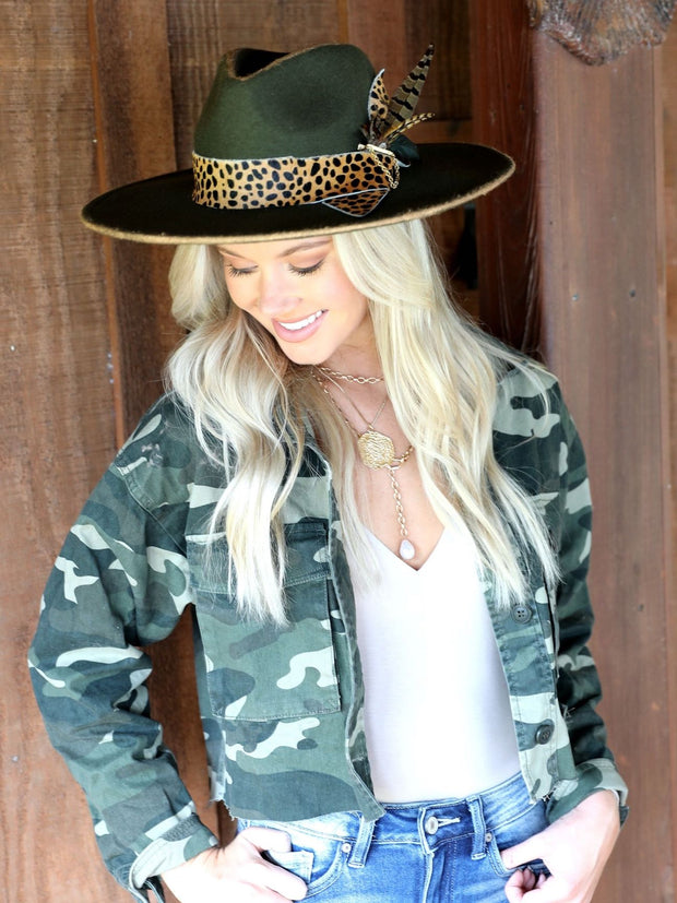 EASY TIGER CROPPED CAMO JACKET