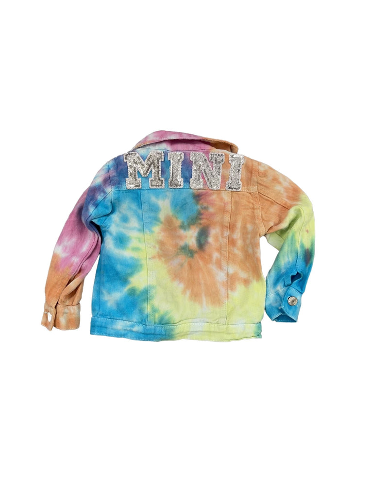 TIE DYE MINI KIDS DENIM JACKET