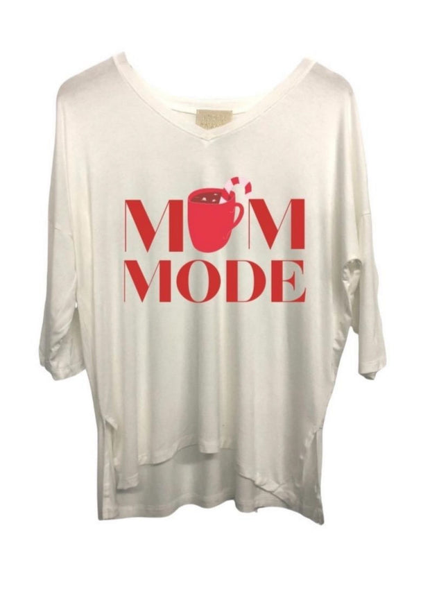 MOM MODE 3 QUARTER LENGTH TEE