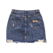 CUSTOM DENIM MINI SKIRT