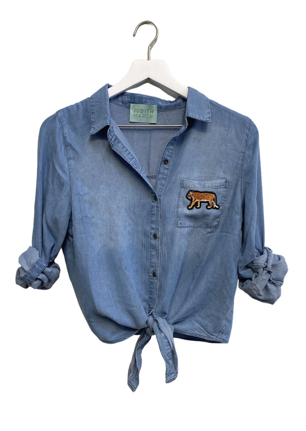 EASY TIGER CUSTOM DENIM TOP